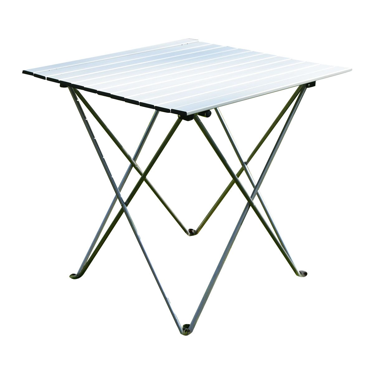 Get Quotations · Giantex Aluminum Roll Up Table Folding Camping Outdoor  Indoor Picnic W/ Bag Heavy Duty