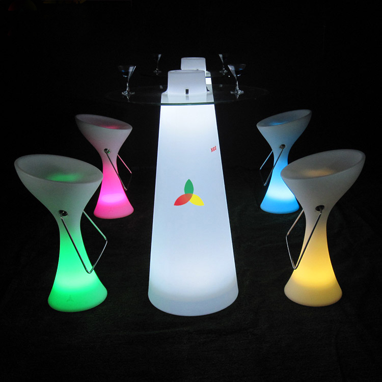 modern outdoor led bar table /led glowing cocktail table /led interactive bar table