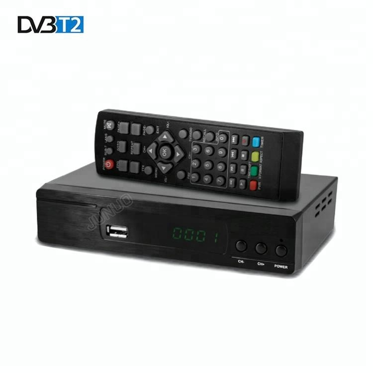 JUNUO mpeg4 fta hd alıcısı 1080 p dijital tv stb DVB-T2 tv kablosu set top box