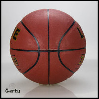 Size 7 pu leather 8 panel laminated basketball