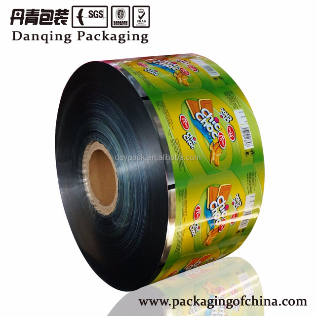 China Customized printing high barrier rollstock for snack