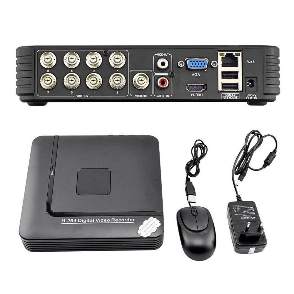 FidgetFidget 8 CH Mini DVR 2CH D1+6CH CIF CCTV DVR 960H Security System H.264 DVR Recorder