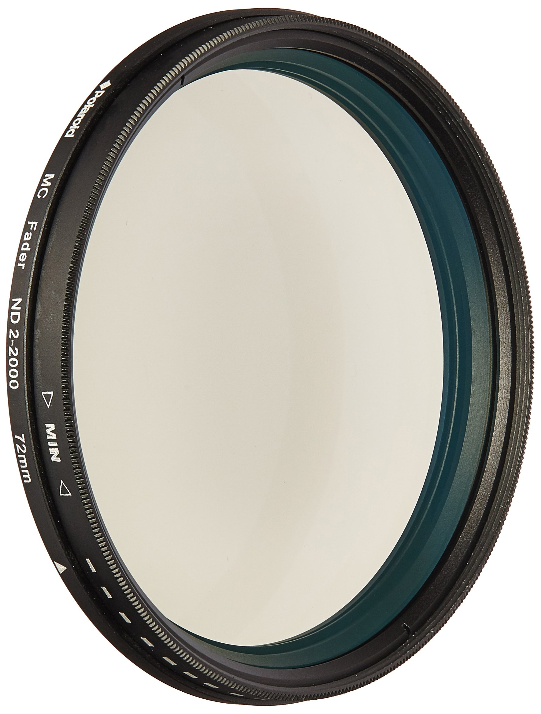Polaroid Optics 72mm Multi-Coated Neutral Density Fader Filter – Variable Range ND2-ND2000– Holds Optical Quality – Compatible w/ All 37mm DSLR Cameras