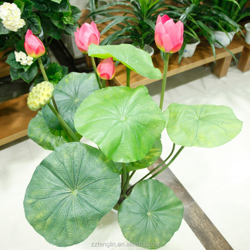Colorful Artificial Flower Lotus Fake Water Lily For Home Decor