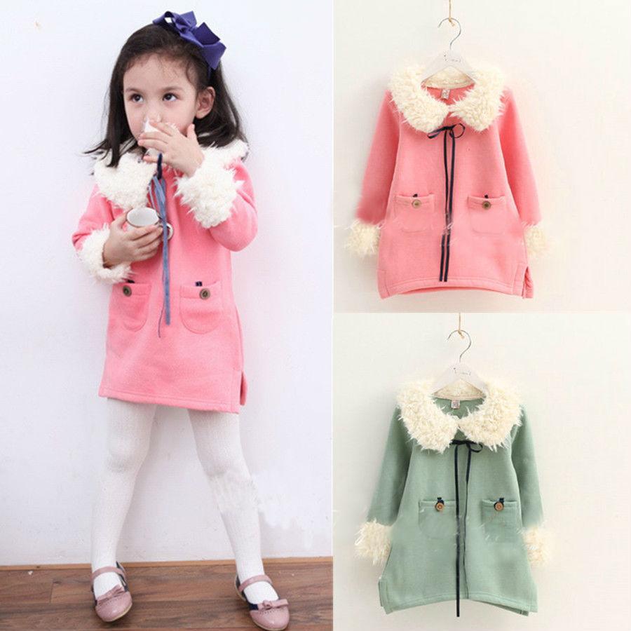 ed16d98f59fd8 Get Quotations · Children Clothing Retail New Autumn Winter Girls Dress  Fashion Korean Style Fur Collar Thicken Dresses Children