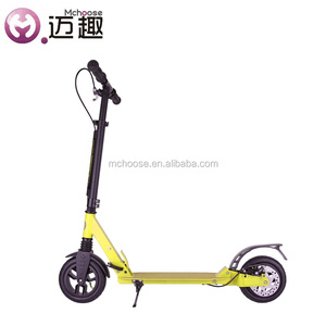 Mobility fat tire kick scooter by foot