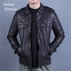 Black Men'S Genuine Lamb Leather Biker Jacket