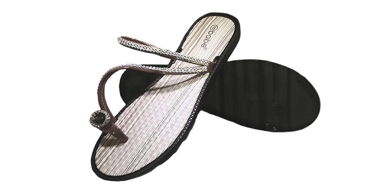 7989c7b260f47 Get Quotations · SLR BRANDS Women s Rhinestones Flip Flops Rubber Thong  Flip Flop Sandal For Women