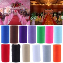 25Yards/Lot 6inch Colorful Tissue Tulle Paper Wedding Decoration Roll Spool Craft Birthday Holiday Decor Free Shipping