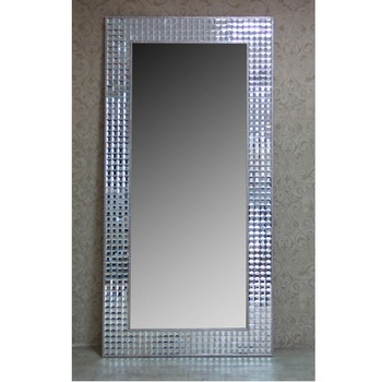 . Fo073 Fashion Contemporary Modern Silver Gold Stainless Steel Imitated  Leather Upholstery Tall Flooring Mirror Standing Mirror   Buy Contemporary