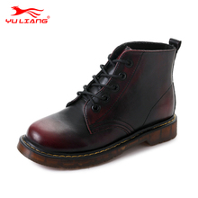 Promotion Water Proof Gothic Red Wing Flat Riding Boots