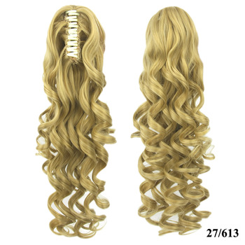 Jerry Curly Claw Clip In Ponytail Russian Hair Extensions