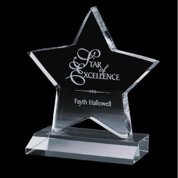 Star Shape Acrylic Awards Plastic Awards Plexiglass Awards