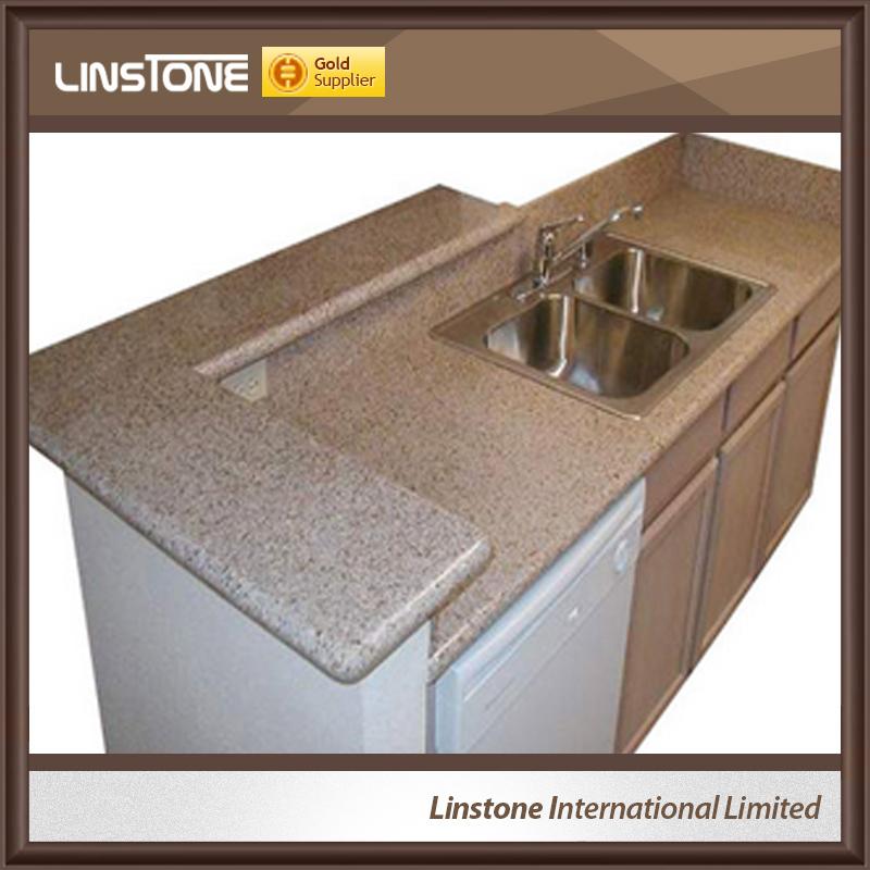 Artificial Granite Molded Sink Double Bathroom Countertop
