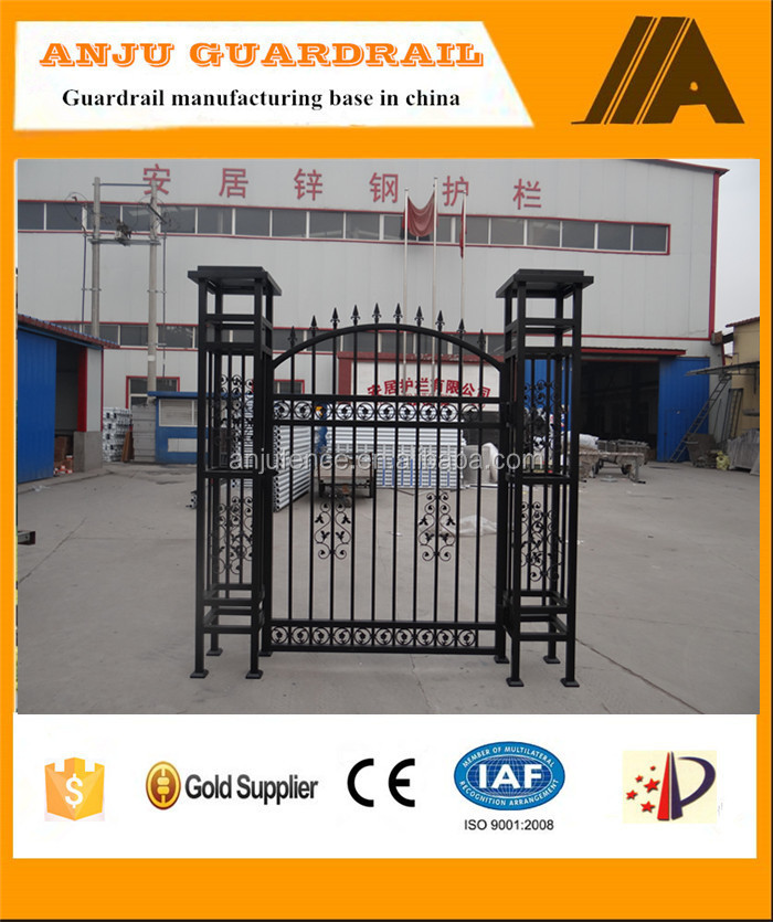 AJSG 009 China factory wrought iron pipe gate design