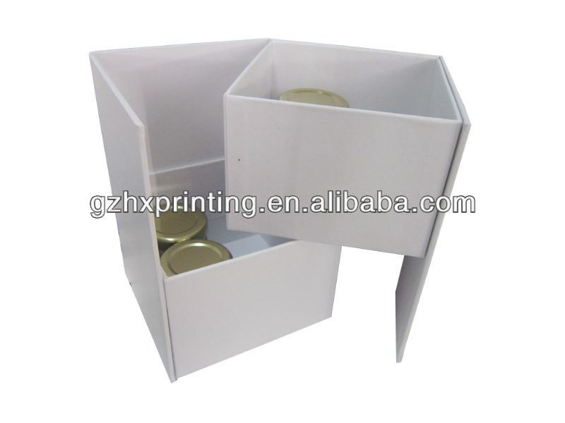 Double Deck Display Paper Box Template Manufacturing