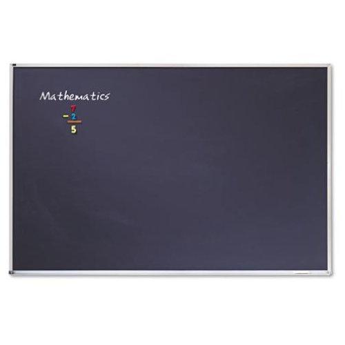 Quartet Porcelain Chalkboard, 4 x 6 Feet, Black with Aluminum Frame (PCA406B)
