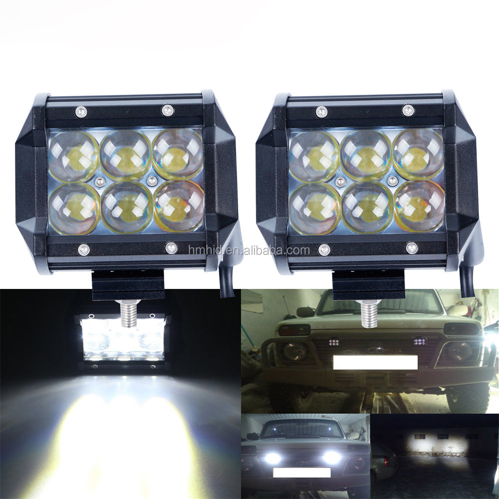 2016 Newest 18W 1300LM 4D C REE Led Work Light Bar For ATV SUV 4WD 4X4 Truck Tractor Trailer Work Light