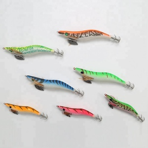 PALADIN 10cm 13.5cm Deep sea Artificial Wood Shrimp Fishing Lure Squid Jigs