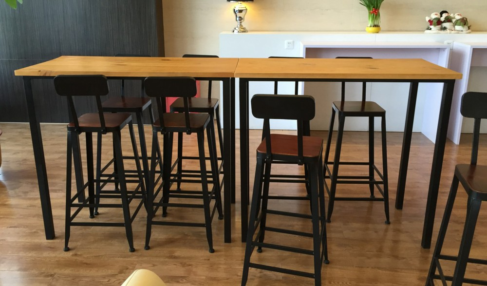 Image Gallery Long Bar Table