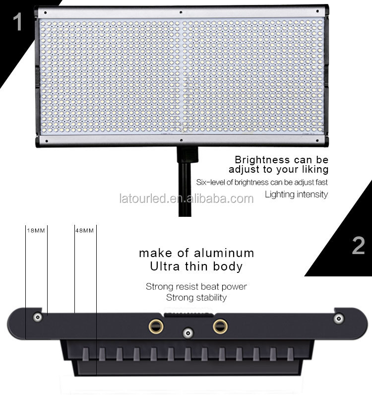 portable bi color led studio light panel dimmable led photography