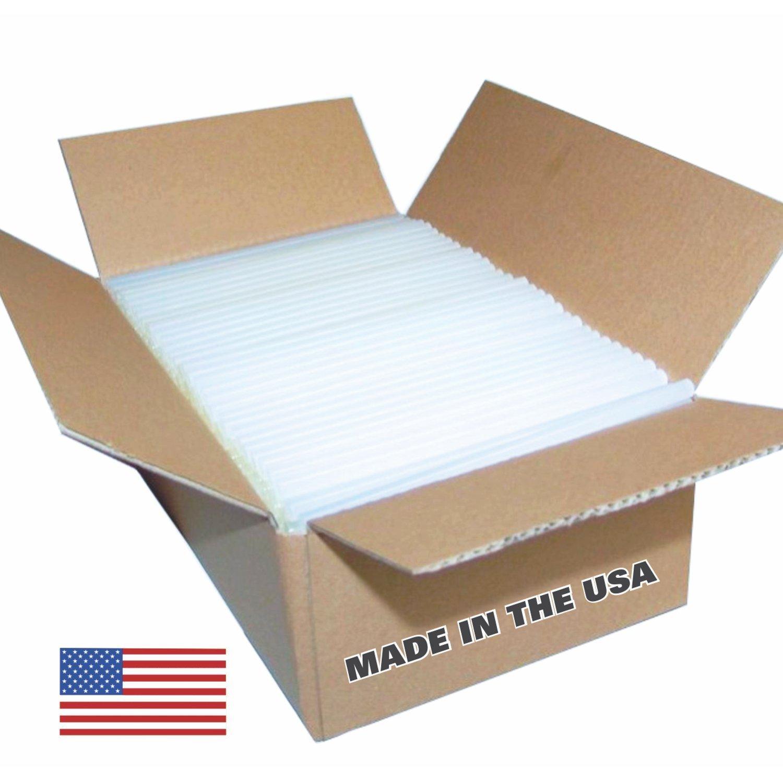 "USA Glue Sticks - 16 Lbs., Approx. 291 Sticks-Clear High Strength Glue Sticks, 7/16"" X 10""-Made in the USA"