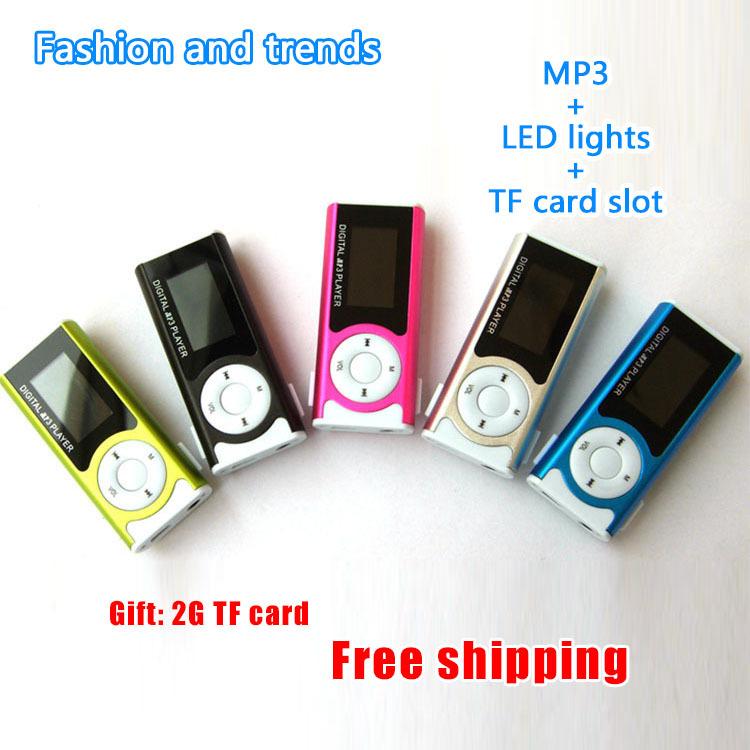 Noneed Full Mp3: E4U Free Shipping No Memory Sports MP3 Player LED Lights