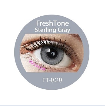 Freshtone Chocolate Cream Blend Sterling Gray Color Korean Cosmetic Contact Lens