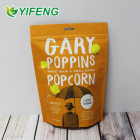 Popcorn Bag Vacuum Peanuts Packaging Zip Lock Candy Synthetic Laminating Stand Up Plastic Pouch Sachet