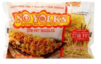 No Yolks Enriched Egg White Pasta - Stir Fry Noodles 12 oz. (Pack of 4)