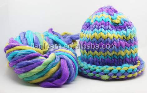 High quality hohhot Factory directly muti-color Chunky Yarn