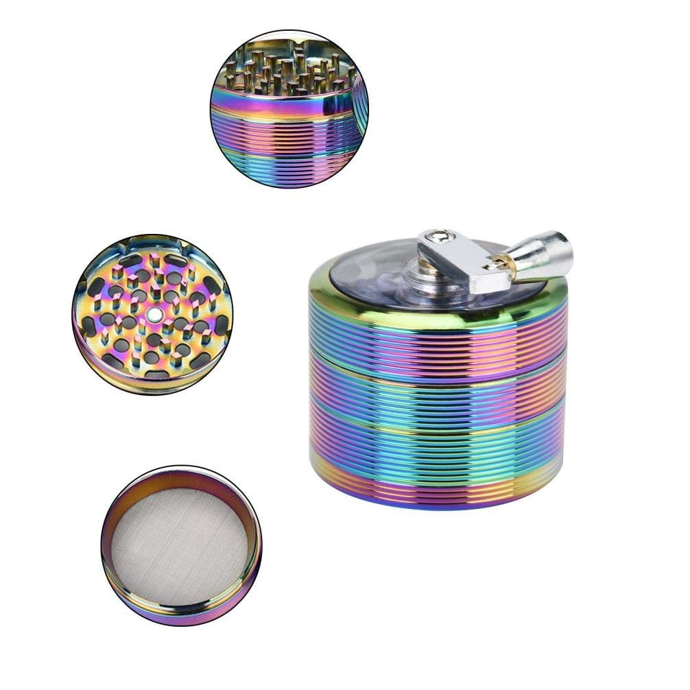 DZT1968® 4-layer 61mm hand shake Herb & Spice Mills Tobacco Grinder Spice Graters Cursher-Zinc alloy