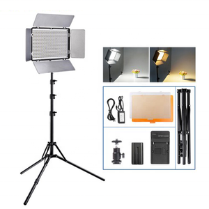 1set Light for Video LED Studio Photo Light 3200-5600K Dimmable Film Lighting