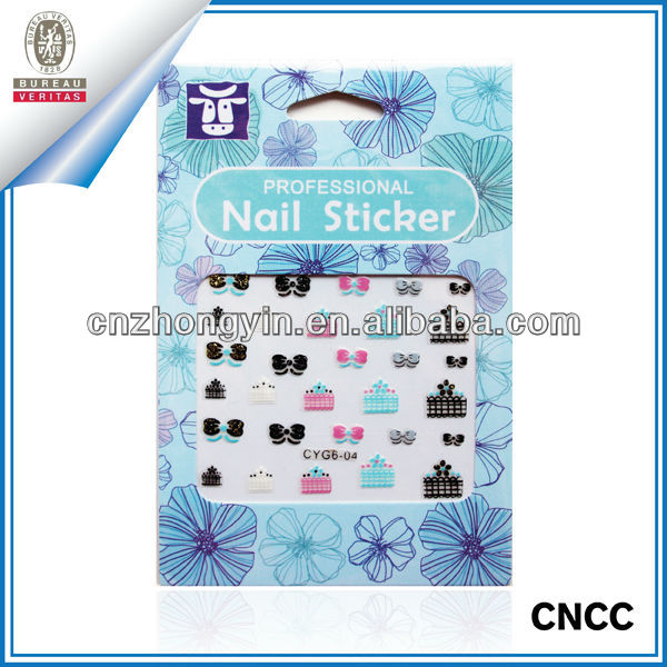 Newest Custom Nail Art Stickers For Girls (ZY7-4030)