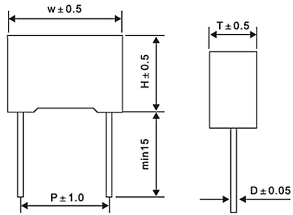 MPX/MKP X2 Capacitor/억제 Capoacitor/0.068 미크로포맷/275/300/310 V