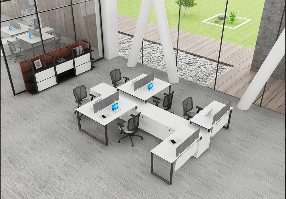 2018 nouveau style table de bureau poste de travail moderne cloisons