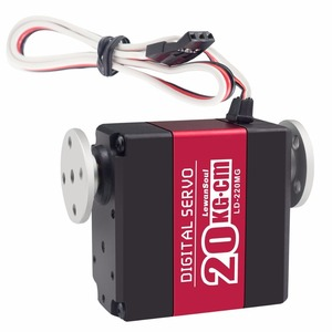 Wholesale price Double Shaft Servo 20kg.cm 180 Degree Rotation Servo, High Quality Hollow Shaft Servo Motor