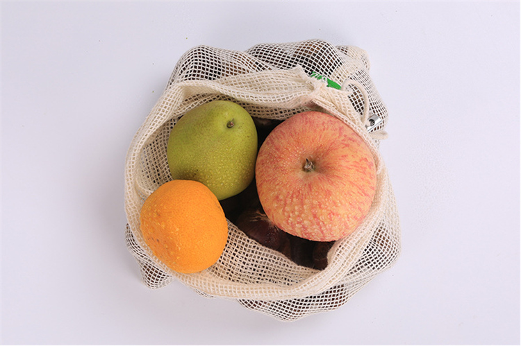 Eco friendly net fruit bag cotton mesh fruit bag