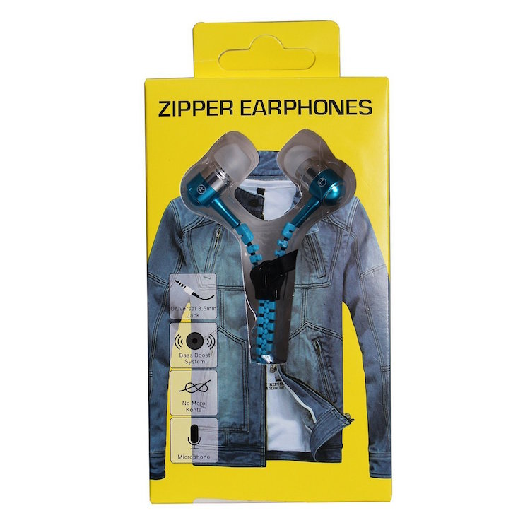 new products 2016 free <strong>samples</strong> mobile sport earphone & headphone, zipper headphone in ear