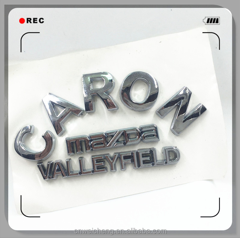 Custom ABS Chrome Car Letters With 3M Sticker