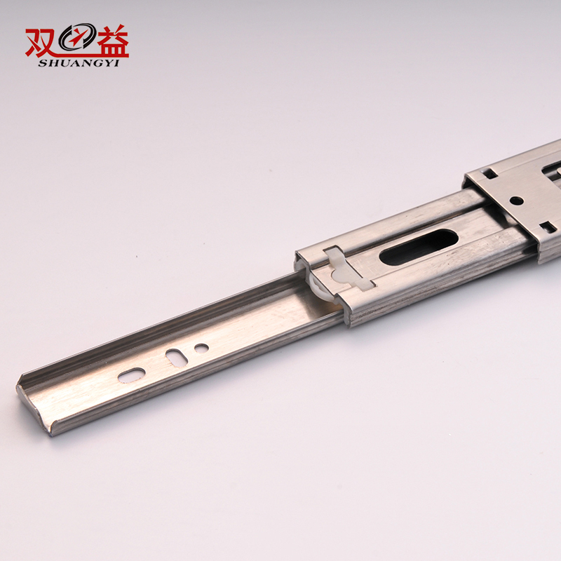 18 Inch Extension Hardware Type Multi Section Folding SUS Telescopic Drawer Slide