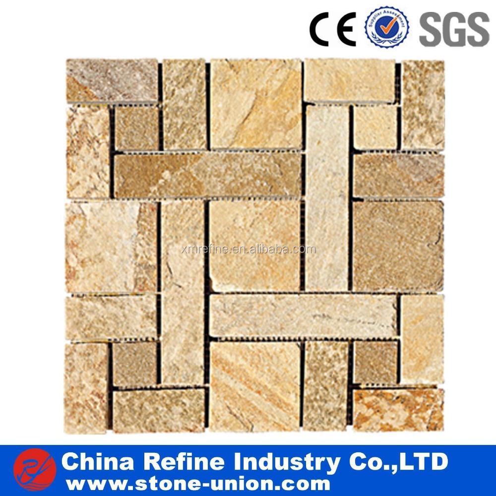 China wall slate mosaic wholesale 🇨🇳 - Alibaba