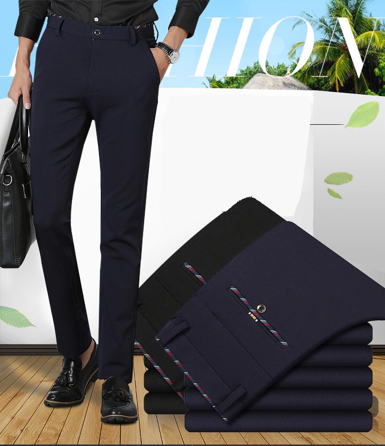 3ad207915961 Stretch Casual Slim Fit Skinny Men's Pants Trousers - Buy Mens ...