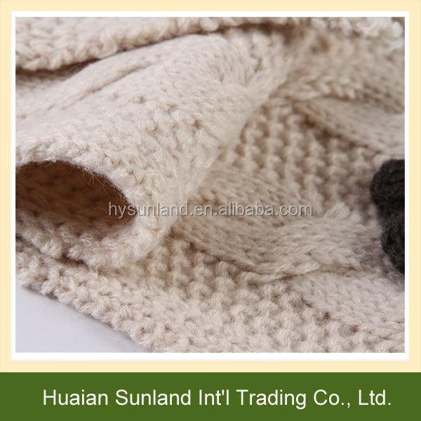 W-1085 Niños Crochet Beanie Mitones Bufanda Patrón De Punto Sombrero ...