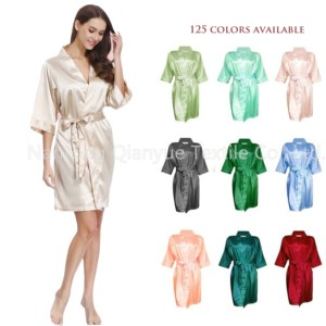 solid color silk kimono satin robe bridesmaid dresses