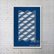 China wholesale price beautiful paper cutting wall hanging art