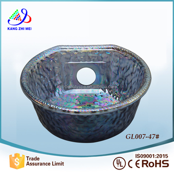 2016 pipeless glass spa pedicure bowl with jet GL007