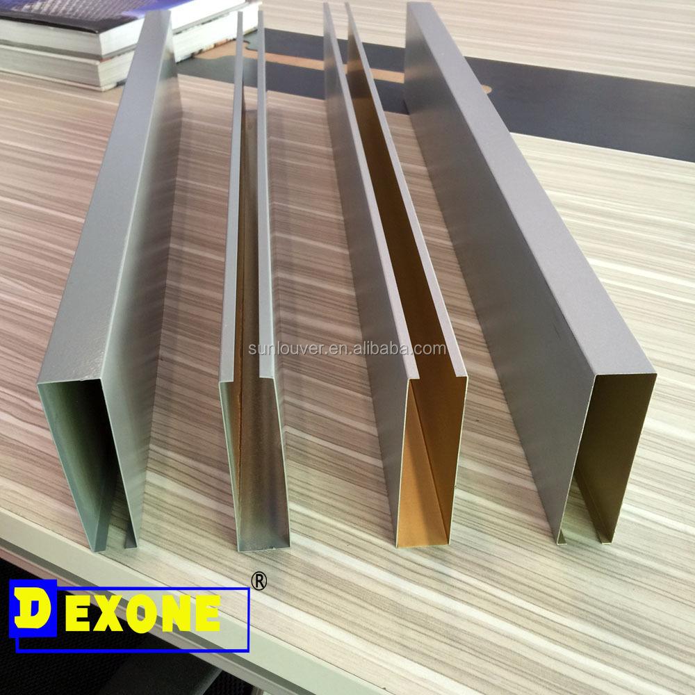 metal aluminum baffle ceiling tile, false ceiling, suspended ceiling