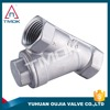 "1/2"" CF8M low pressure BSP female thread ss316 304 carbon steel y strainer in TMOK"