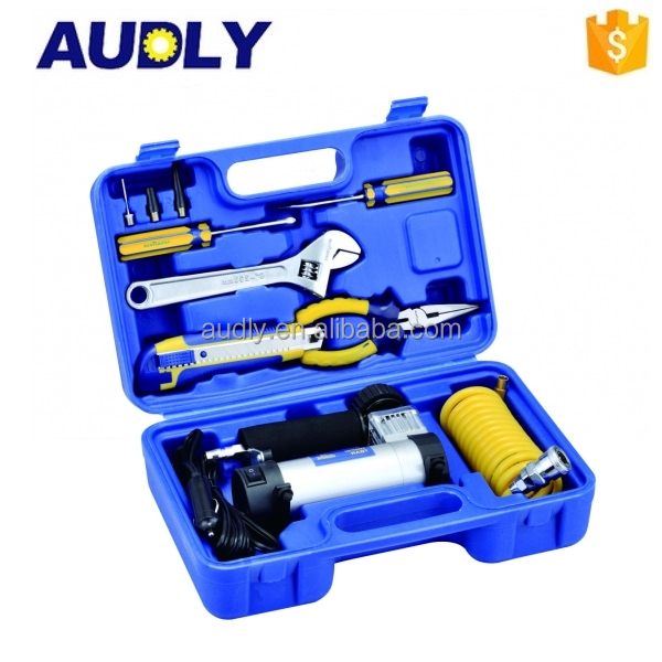 Vehicle Tool Metal and ABS Material with Tool Box 12V Portable Tire Inflators